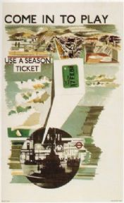 Vintage London underground poster - Come in to play